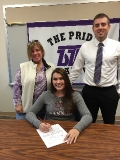 Signing letter of intent for Gannon University
